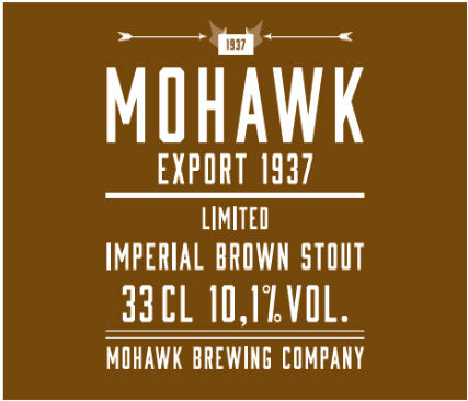 Mohawk Imperial Brown Stout Export 1937